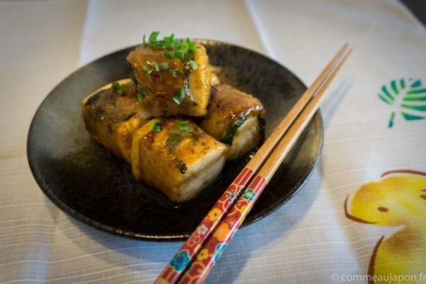 Dés de tofu au porc