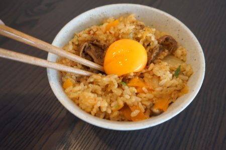 recette pour rice cooker - riz au kimchi et boeuf