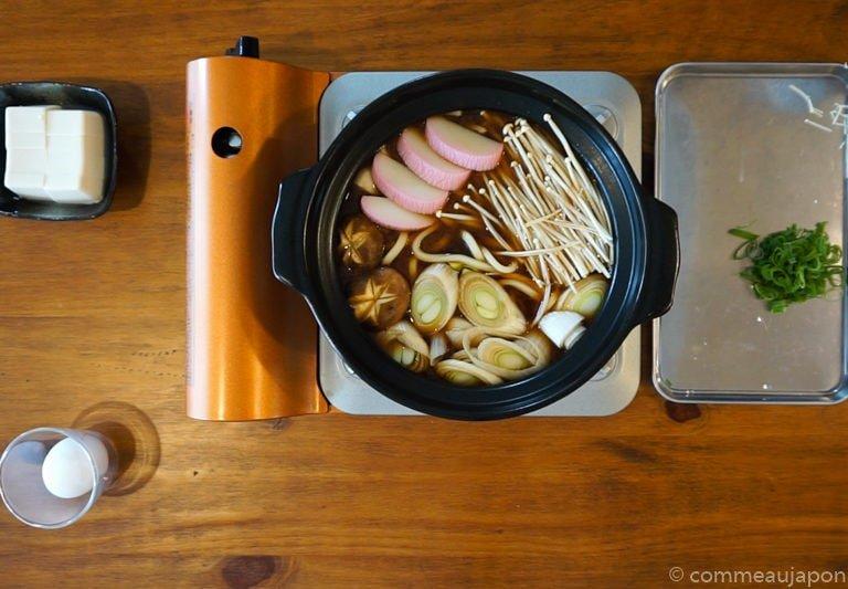 miso Udon step5 Udon au miso rouge poulet et légumes - Miso Nikomi Udon