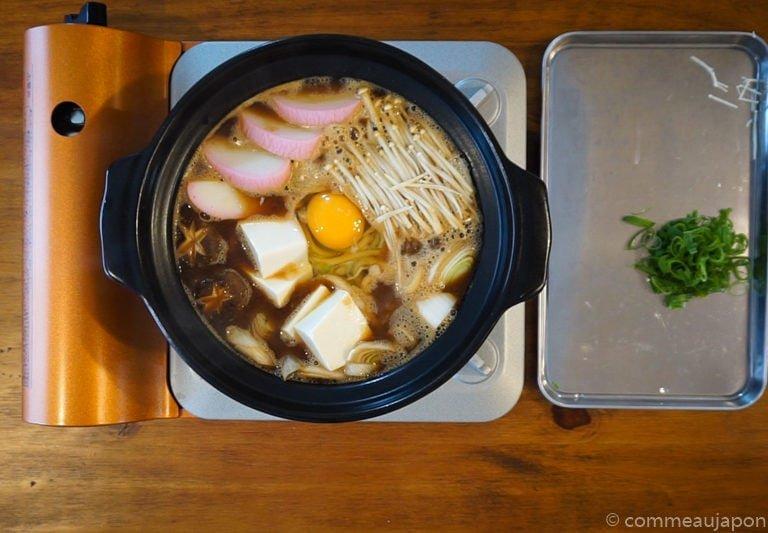 miso Udon step6 Udon au miso rouge poulet et légumes - Miso Nikomi Udon