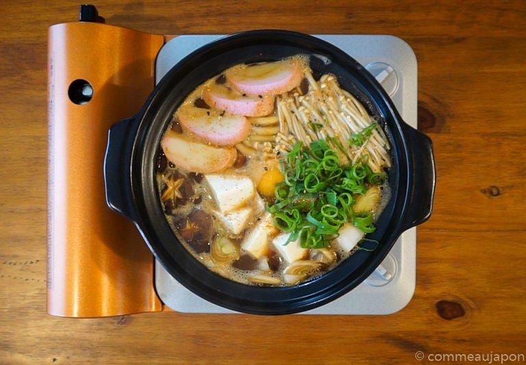 miso Udon step7 Udon au miso rouge poulet et légumes - Miso Nikomi Udon