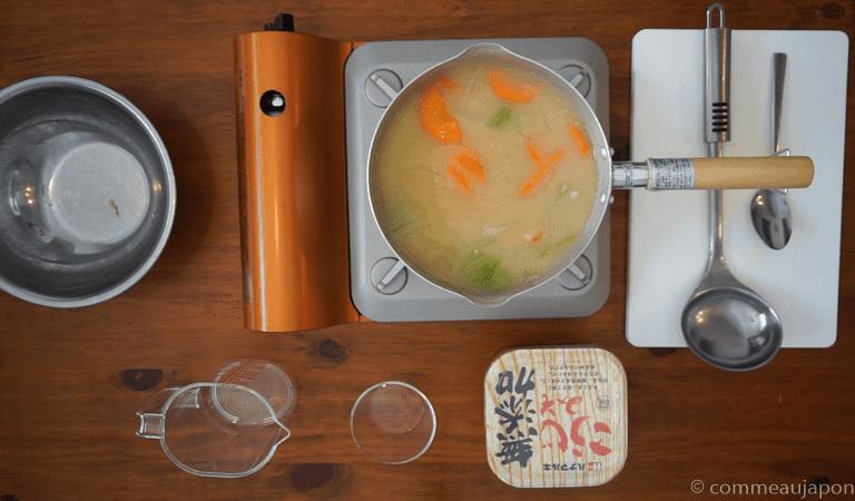 miso etape fin Soupe Miso aux légumes