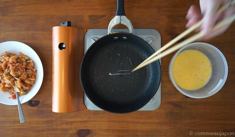 omurice omelette etape 2 Omurice