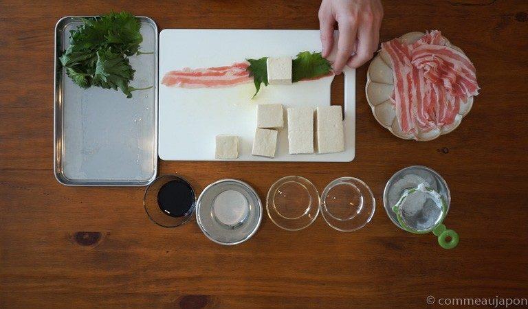 tofu bacon 1.3.1 Dés de tofu au porc