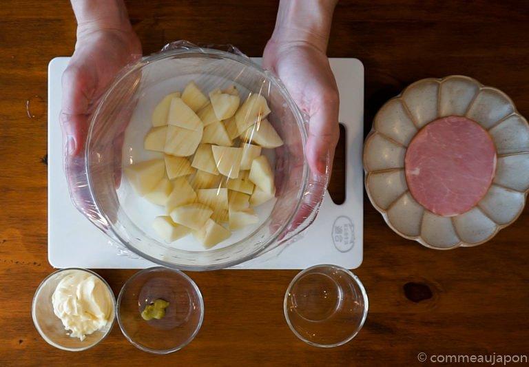 salade patates etape4 Salade de pommes de terre - ポテトサラダ