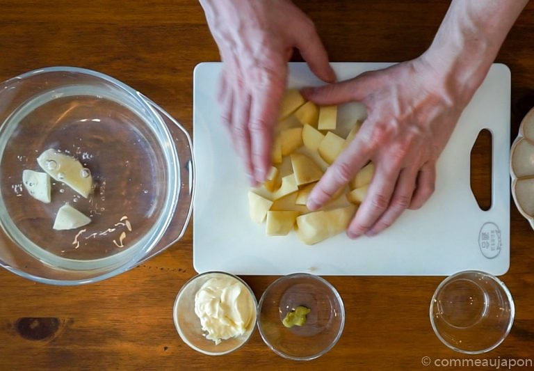 salade patates etape 1 Salade de pommes de terre - ポテトサラダ