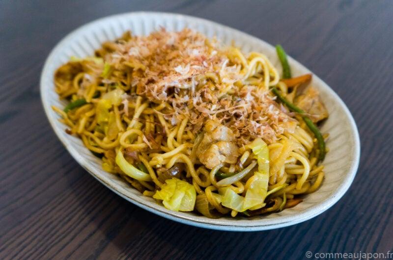 Yaki soba - Nouilles japonaises sautées au porc et légumes - 焼きそば