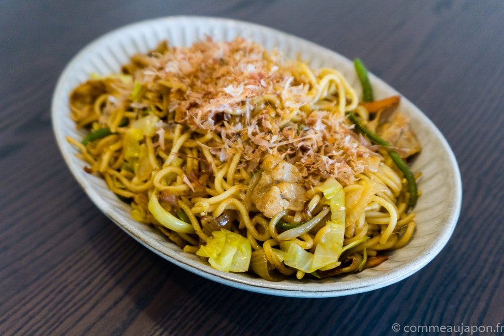 Yakisoba – Nouilles japonaises sautées  au porc et légumes –  焼きそば