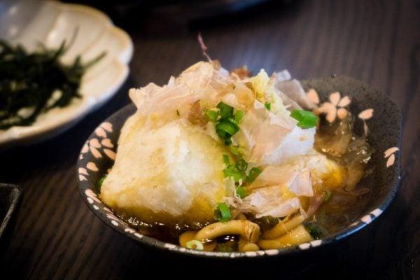 Tofu frit japonais – Agedashi-doufu