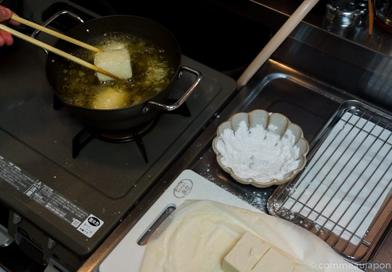agedashi Etape 7 site Tofu frit japonais - Agedashi-doufu