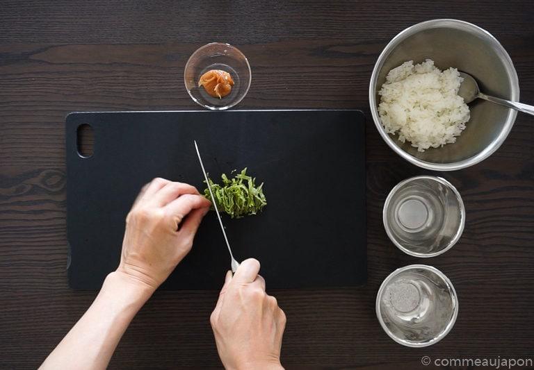 onigiri shiso Onigiri - Les sandwichs de riz japonais