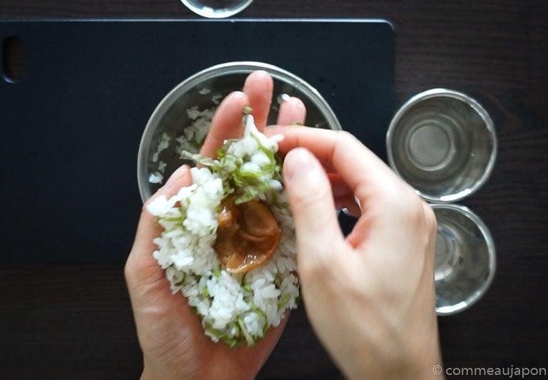 onigiri umeboshi 1.1.1 Onigiri - Les sandwichs de riz japonais