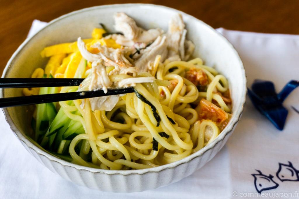 DSC00053 Ramen Froid - Hiyashi chuka - Reimen 冷麺