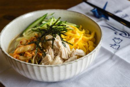 Recette des ramen froids, hiyashi chuka ou reimen
