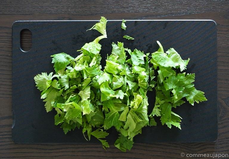 salade celeri tape 1 Salade de céleri et carottes au sésame