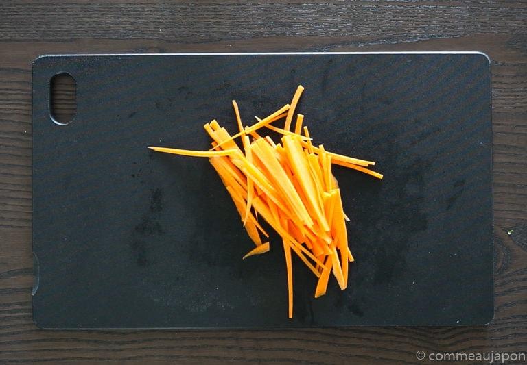 salade celeri tape 2 Salade de céleri et carottes au sésame