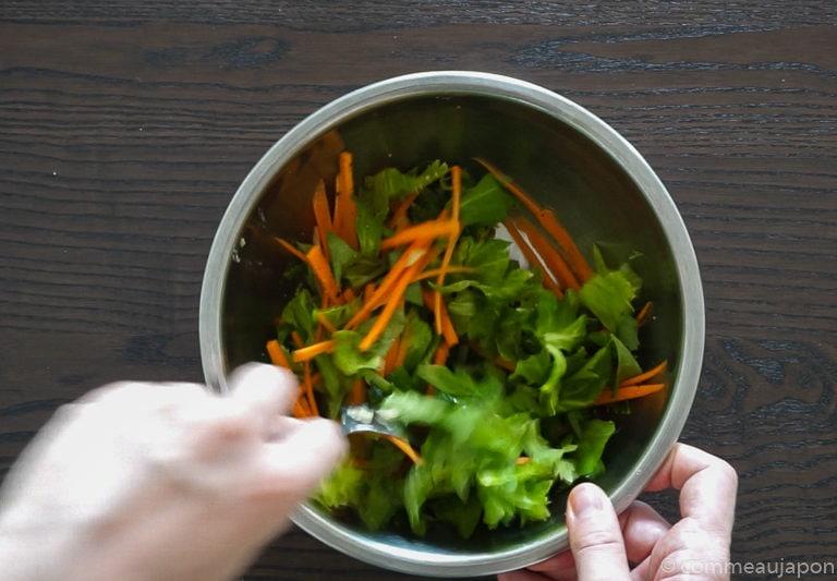 salade celeri tape 3 Salade de céleri et carottes au sésame
