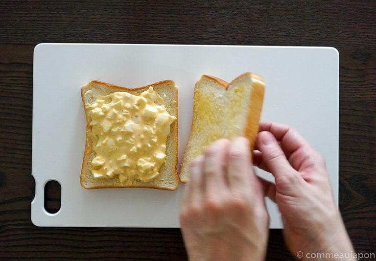 tamago etape 3 Sandwich japonais aux oeufs - Tamago Sando