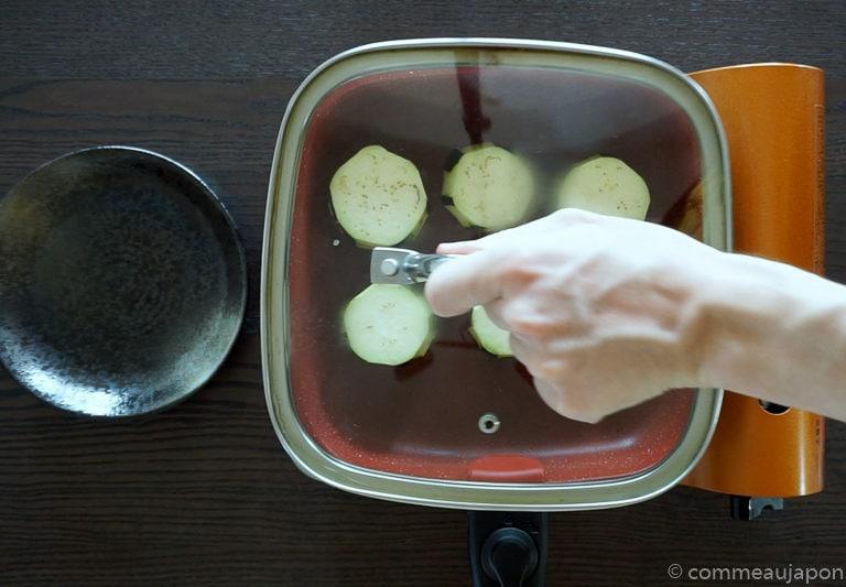 dengaku etape 5 Aubergine sauce miso - Nasu Miso Dengaku - なす味噌田楽