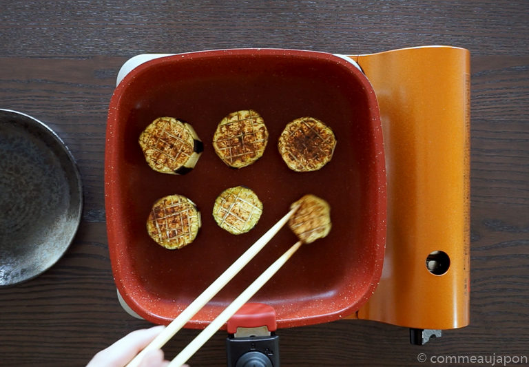 dengaku etape 6 Aubergine sauce miso - Nasu Miso Dengaku - なす味噌田楽