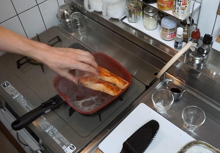 saumon teriyaki etape 5 Saumon Teriyaki - Sake no Teriyaki - 鮭の照り焼き