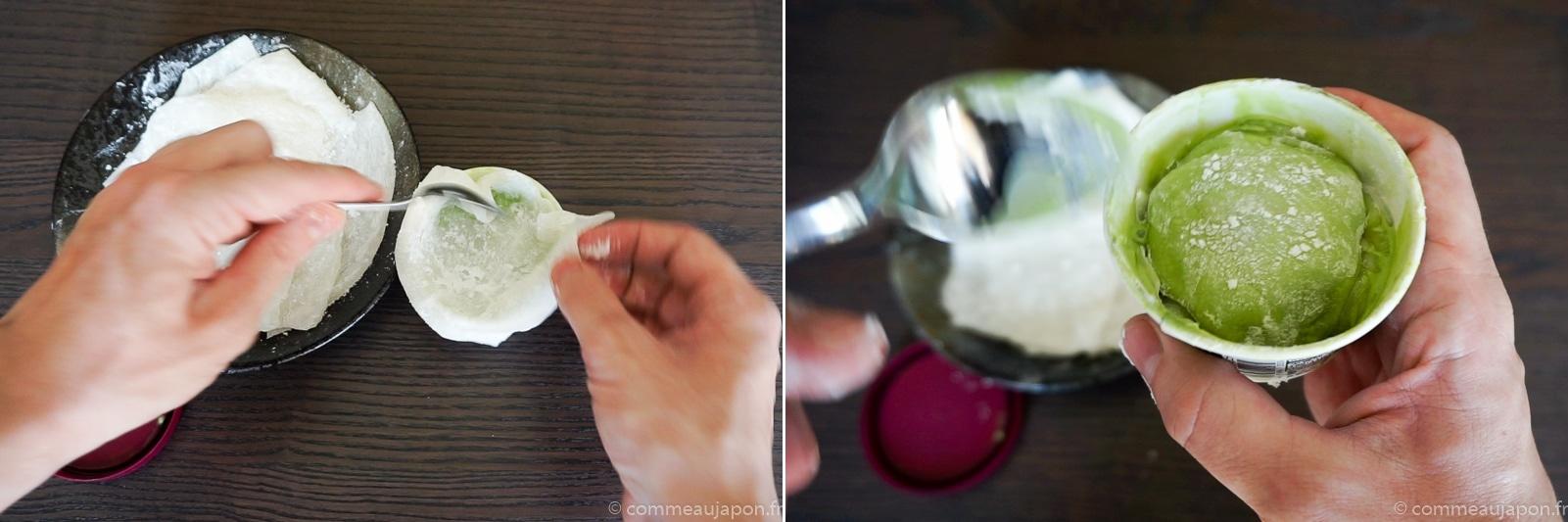 mochi glace cup 1 Mochi glacé - Boules de glace et mochi !