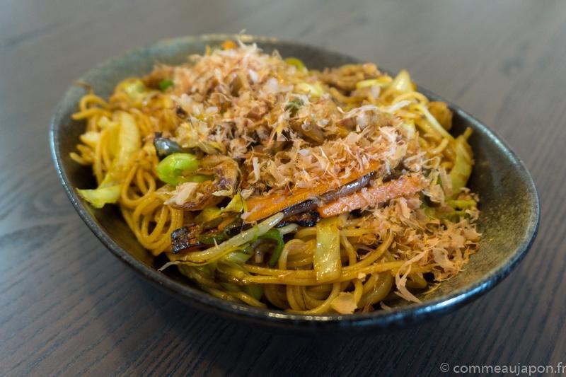 yakipasta final Yakisoba - Nouilles japonaises sautées au porc et légumes - 焼きそば