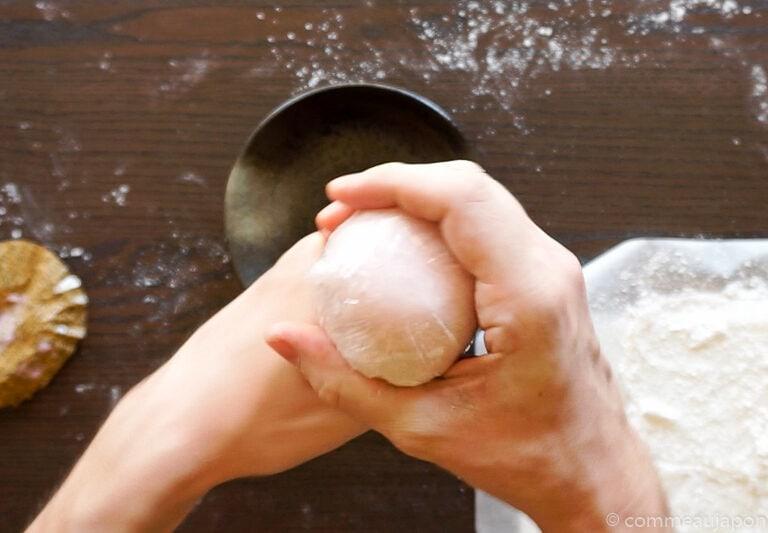 mochiglaces etape 10 Mochi glacé - Boules de glace et mochi !