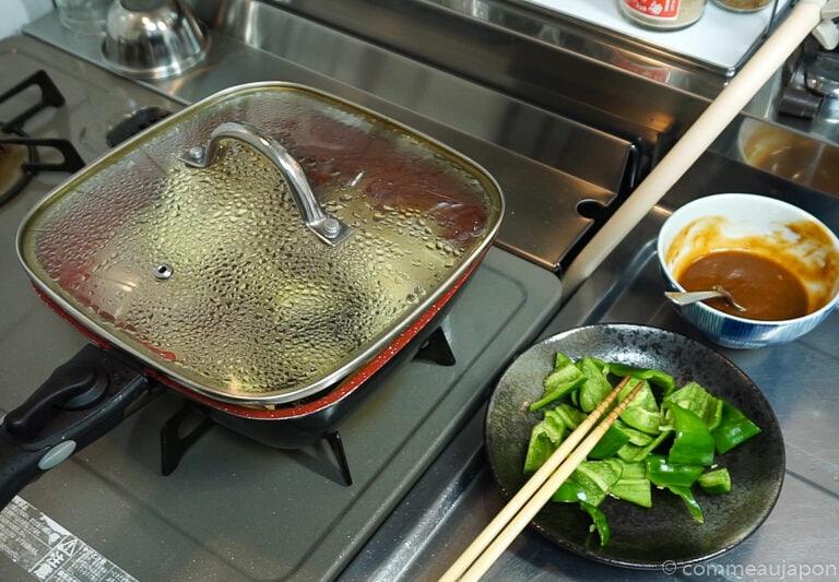porc aubergine miso etape cuisson 2.2 Sauté de porc, aubergines et poivrons verts sauce miso piquante