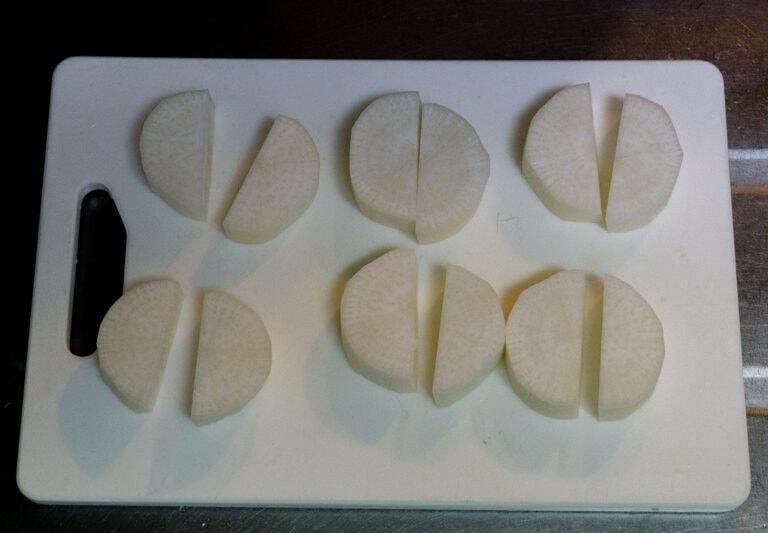 rice cooker daikon etape 2 Recette pour Rice Cooker : Pot-au-feu de poulet japonais