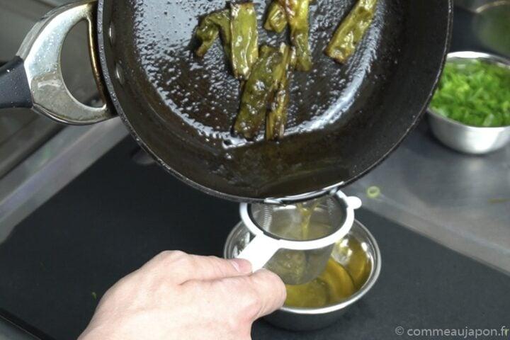 Huile aromatique aux oignons verts