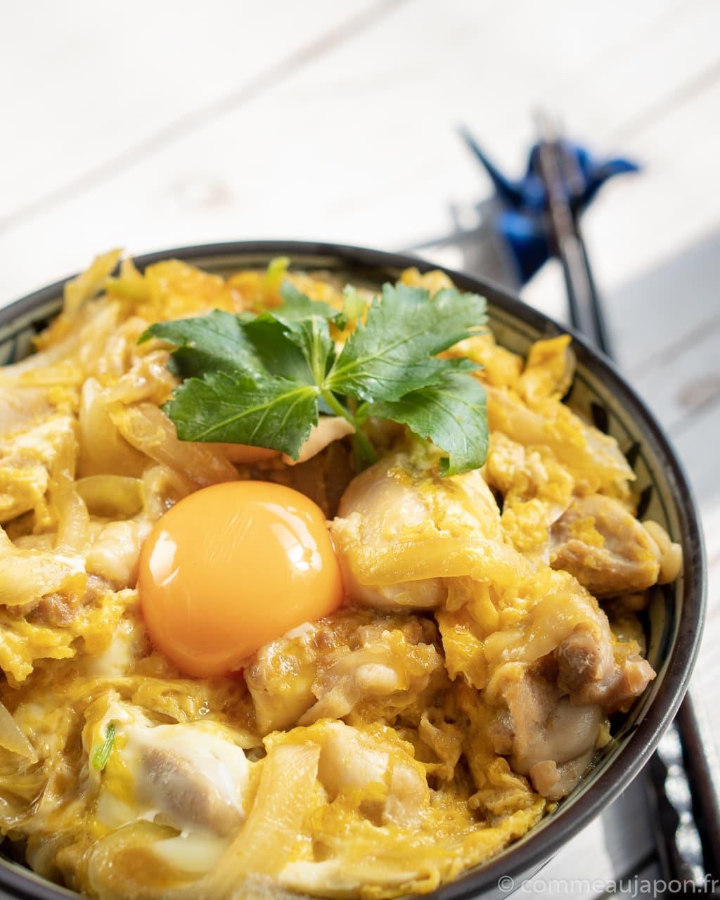 Oyakodon insta 1 of 1 Oyakodon - Bol de poulet et oeuf - 親子丼