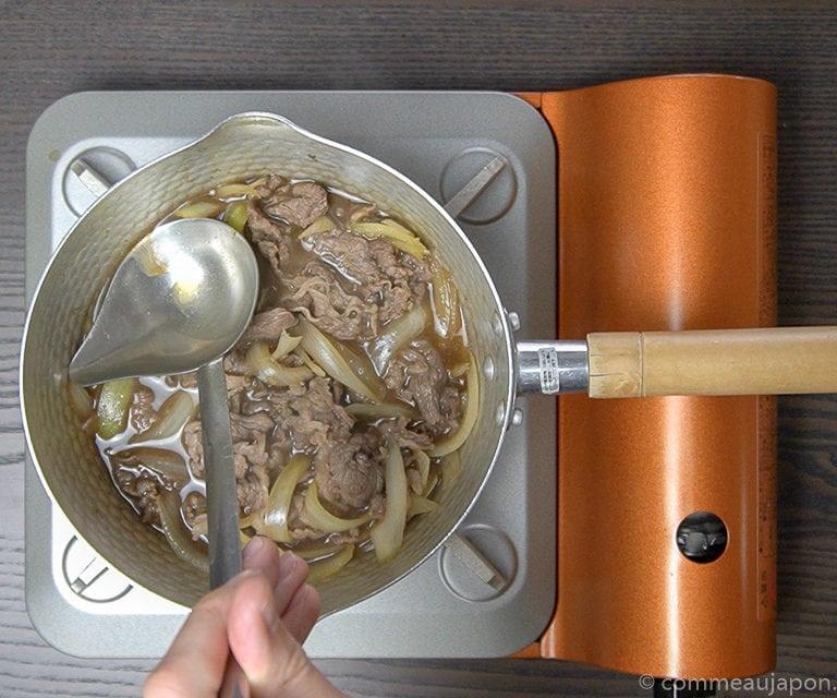 gyudon recette step 1 of 6 Gyudon- Bol de riz et boeuf - 牛丼