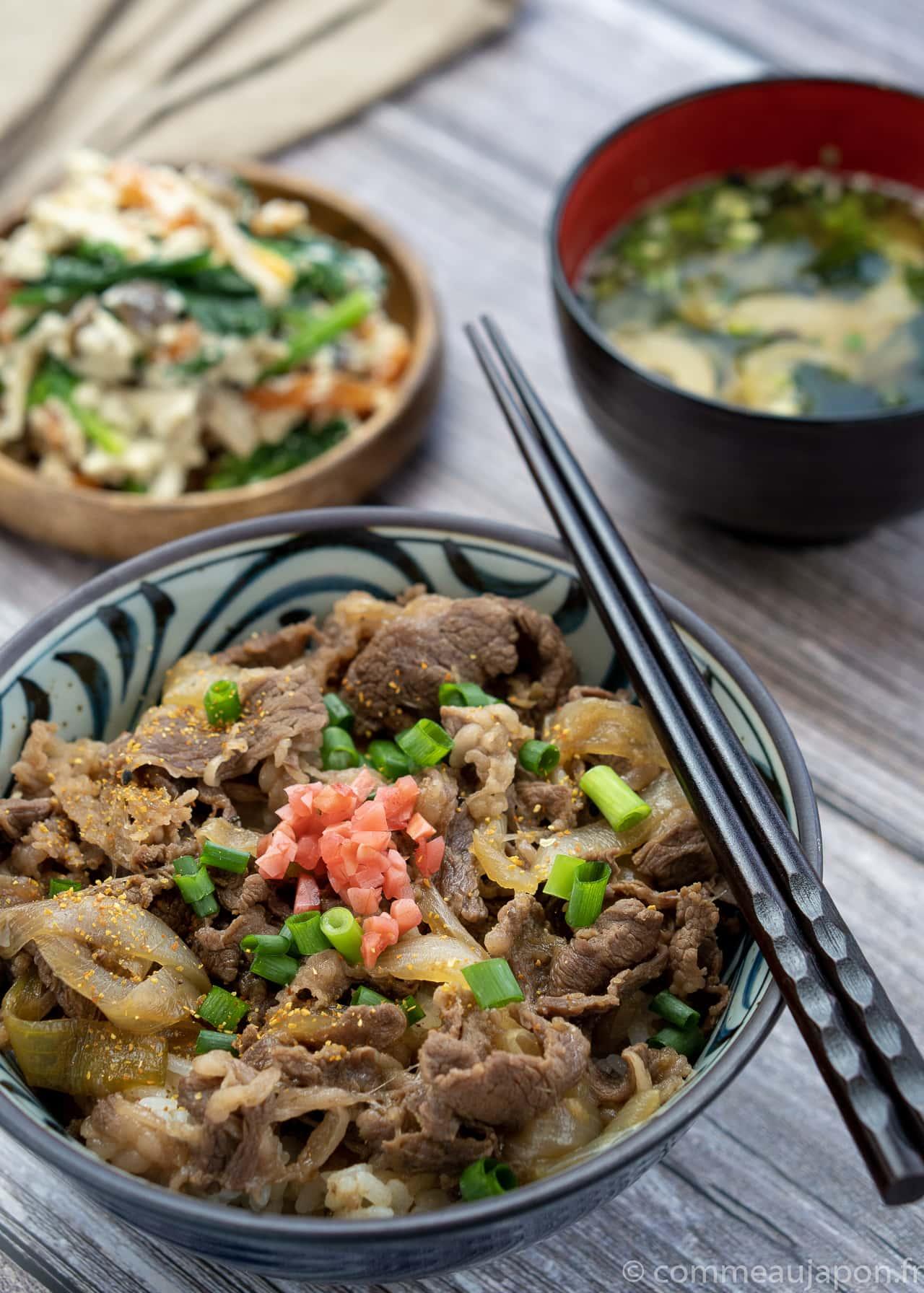 gyudon shirae 2 of 3 Gyudon- Bol de riz et boeuf - 牛丼