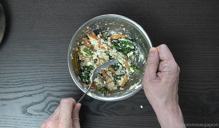 shiraae recette 12 of 12 Shiraae - Salade au tofu crémeux - 白和え