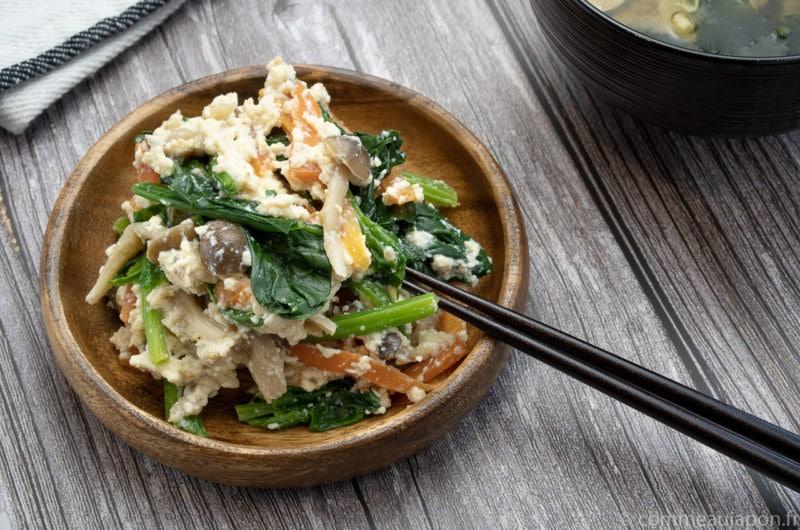 Shiraae - Salade au tofu crémeux - 白和え
