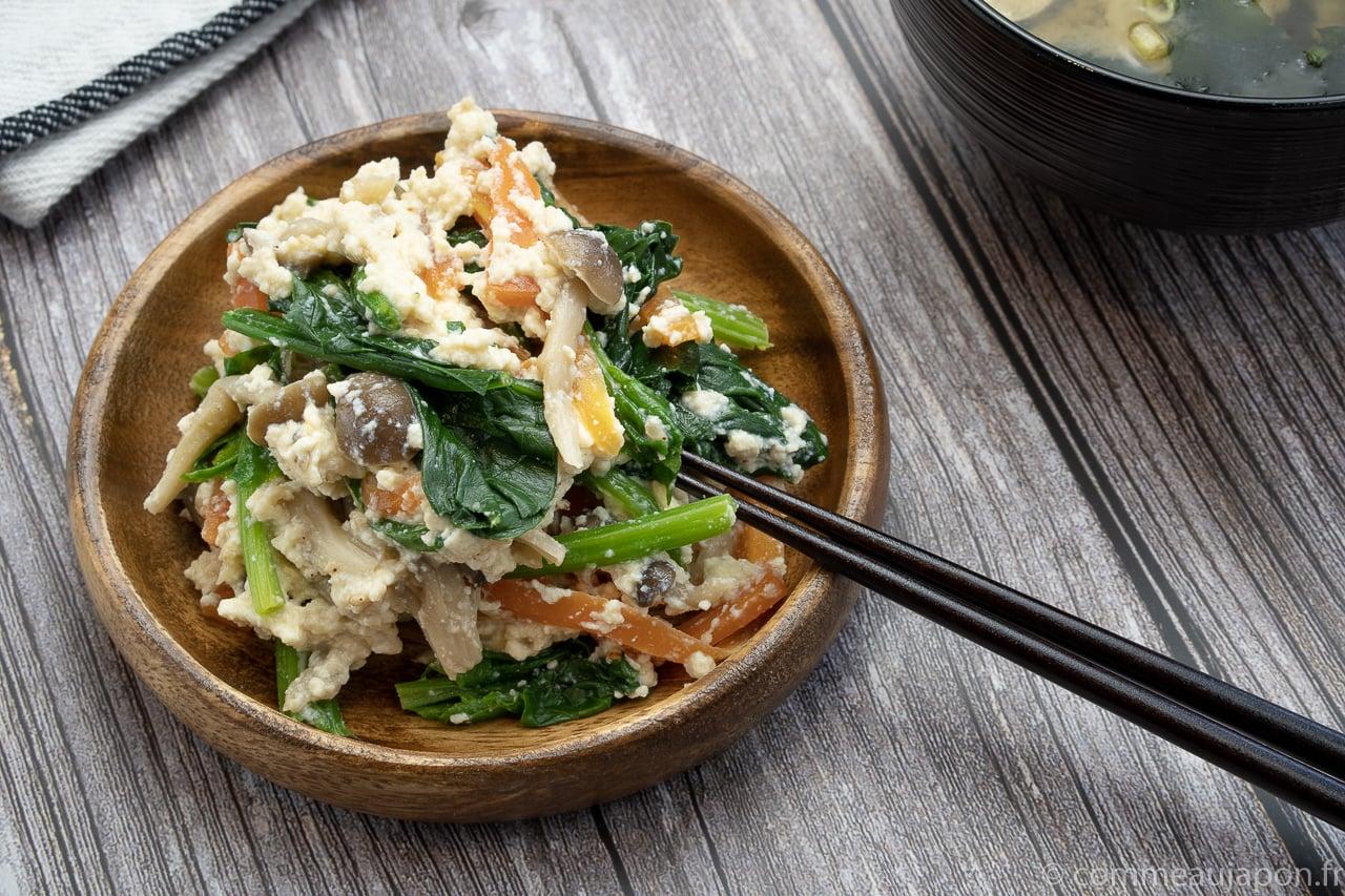 Shiraae – Salade au tofu crémeux – 白和え