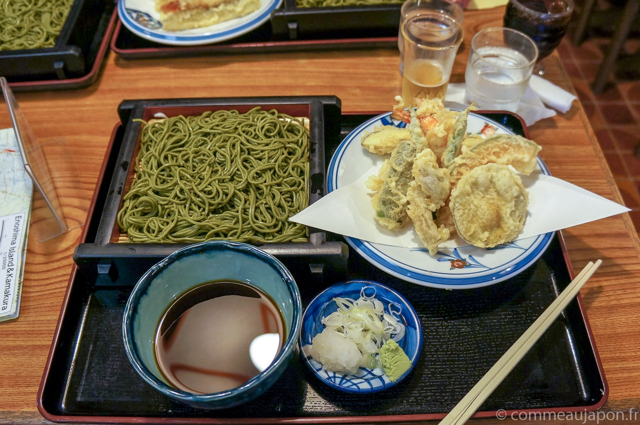 zarusoba tempura 1 of 1 Zaru Soba - Nouilles soba froides - ざるそば