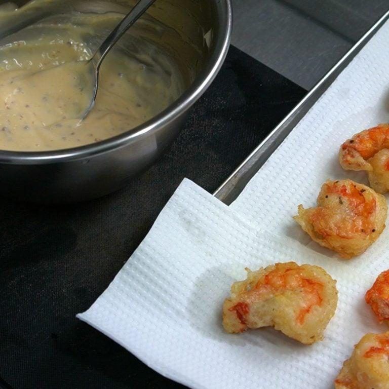 ebi mayo recette etape 1.41.1 Ebi Mayo - Crevettes frites sauce mayonnaise - エビマヨ