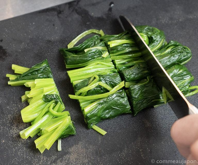 hourenso gomaae recette 2 of 8 1 Salade d'épinards au sésame - Hōrenso gomaae