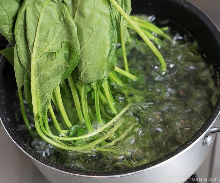 hourenso gomaae recette 6 of 8 Salade d'épinards au sésame - Hōrenso gomaae